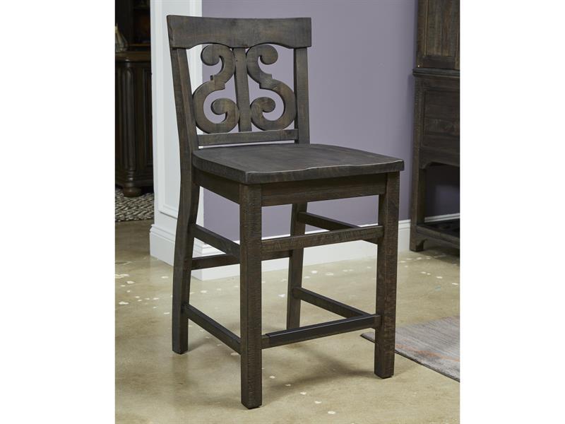 Prime Magnussen Home Bellamy Wood Back Counter Height Desk Chair Dailytribune Chair Design For Home Dailytribuneorg