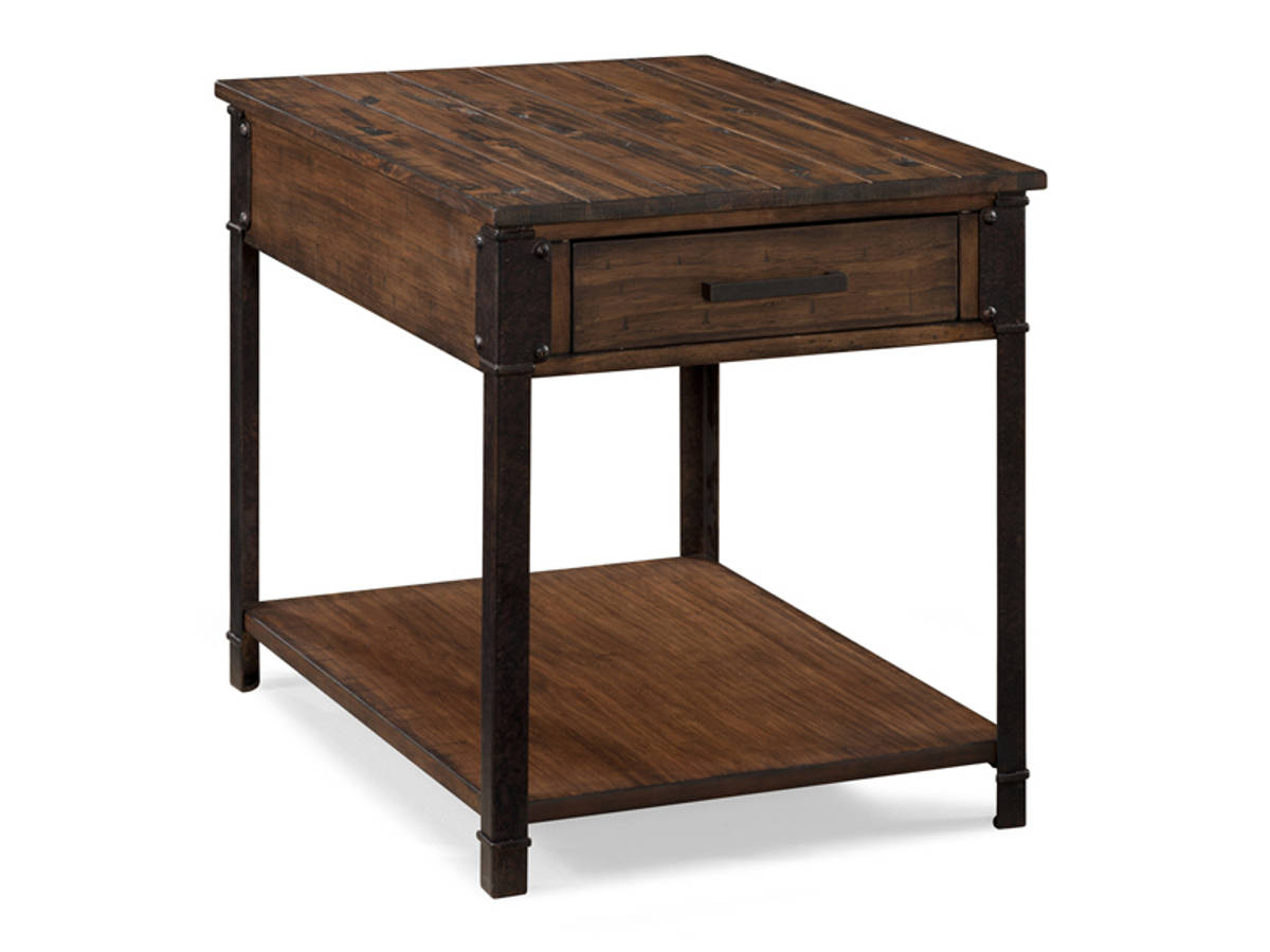 Magnussen Home Larkin Natural Pine Rectangular End Table The Classy Home