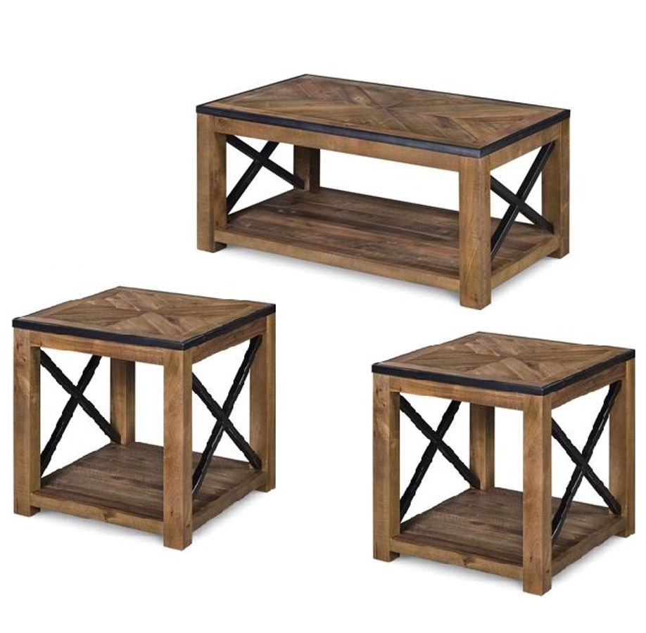 Magnussen Home Penderton 3pc Coffee Table Set With Casters | The Classy Home