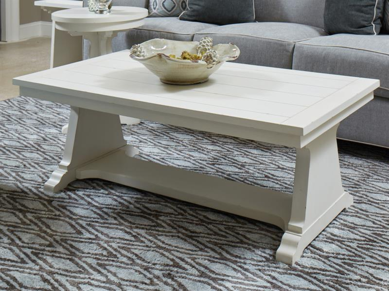 magnussen home coventry lane white 3pc coffee table set the classy home. Black Bedroom Furniture Sets. Home Design Ideas