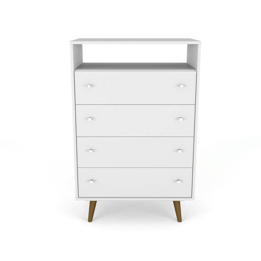 manhattan comfort liberty white 4 drawer dresser chest the classy home. Black Bedroom Furniture Sets. Home Design Ideas