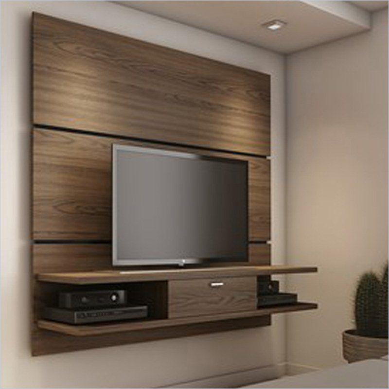 Ellington Chocolate 2.0 Floating TV Wall Panel W/2 Shelf U0026 Flip Door | The  Classy Home