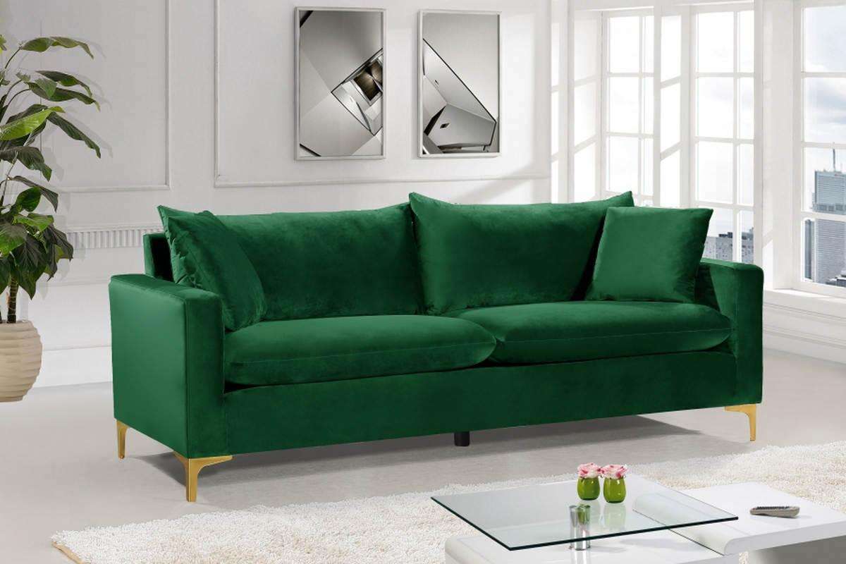 Pleasant Meridian Furniture Naomi Green Velvet Sofa Machost Co Dining Chair Design Ideas Machostcouk
