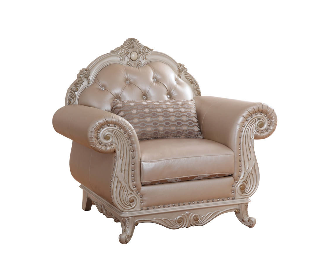 Meridian Furniture Marquee Pearl White Chair The Classy Home