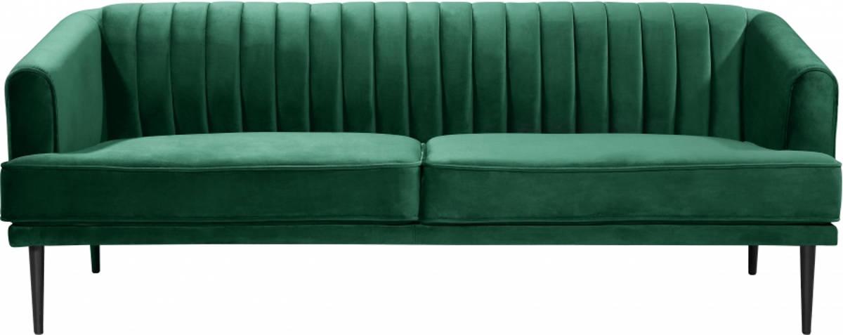 Meridian Furniture Rory Green Velvet Sofa