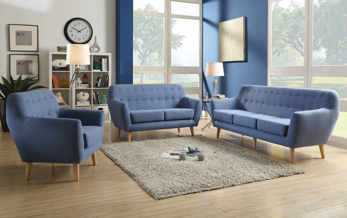 Prime Home Roots Ngaio Blue Fabric 3Pc Living Room Set Download Free Architecture Designs Scobabritishbridgeorg