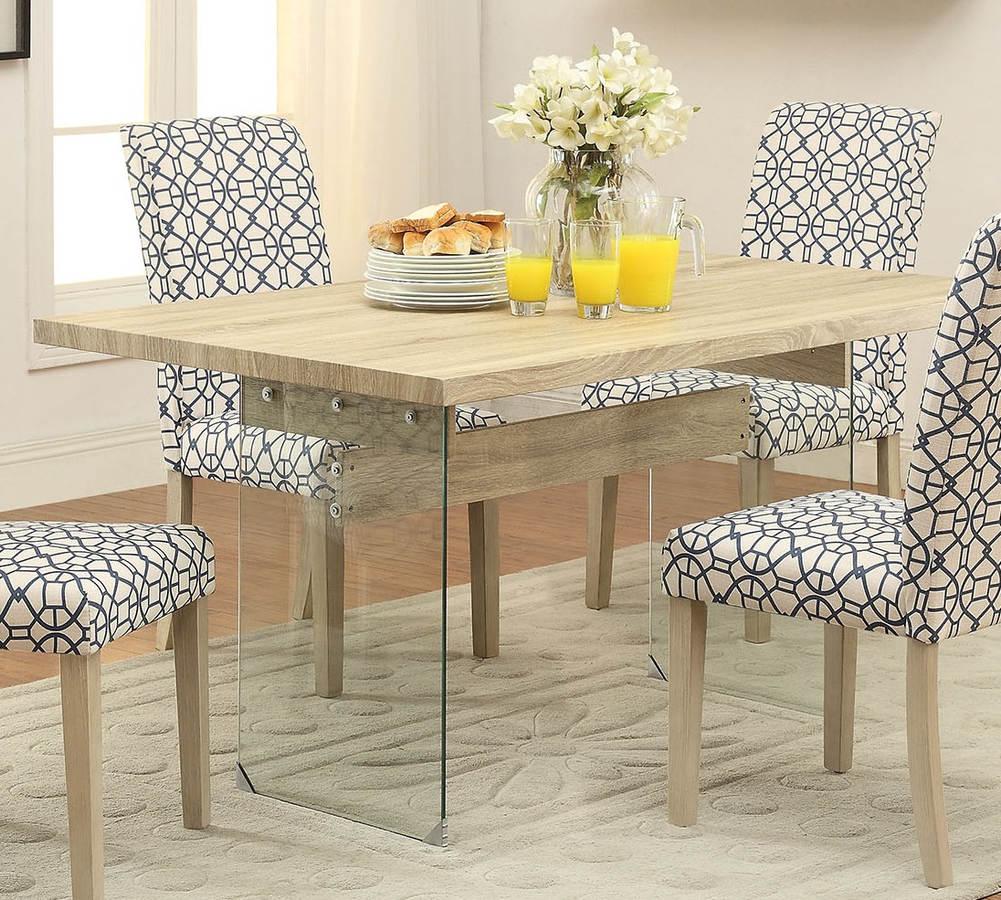 Homeroots Acme Glassden Light Oak Dining Table