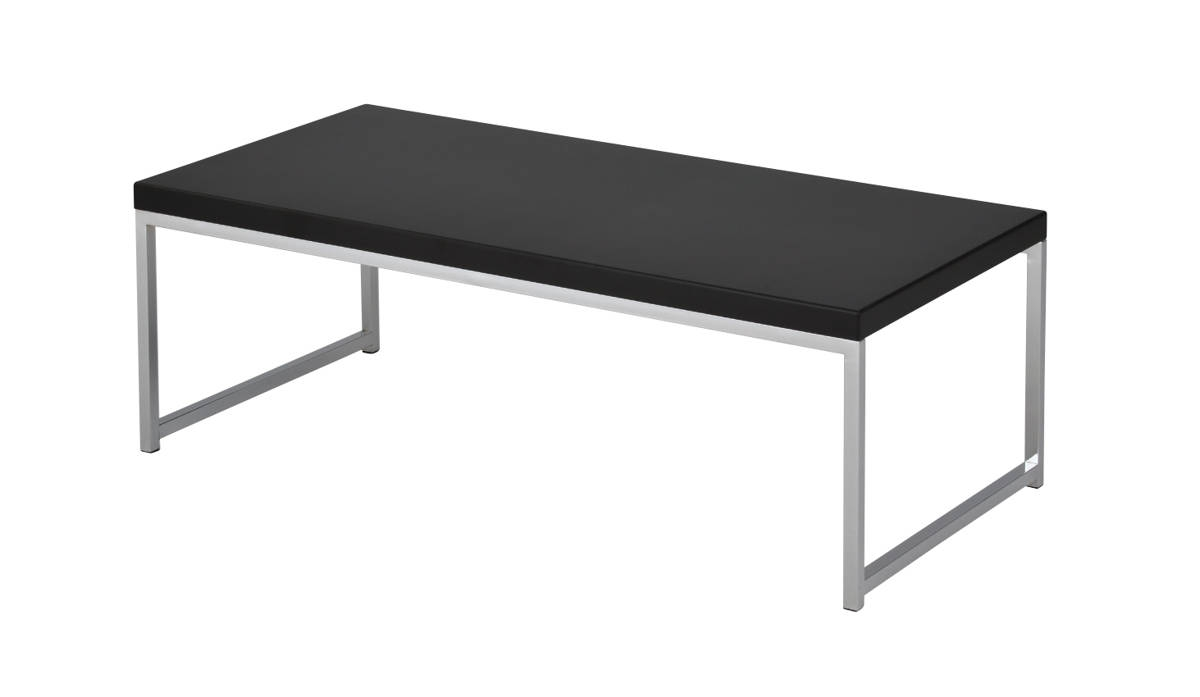 Wall Street Black Melamine Chrome Plated Steel Frame Coffee Table The Classy Home