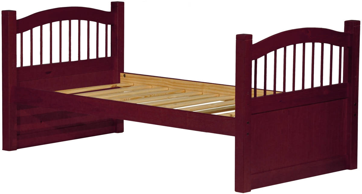 Palace Imports York Mahogany 2pc Kids Bedroom Set With Twin Captain Bed