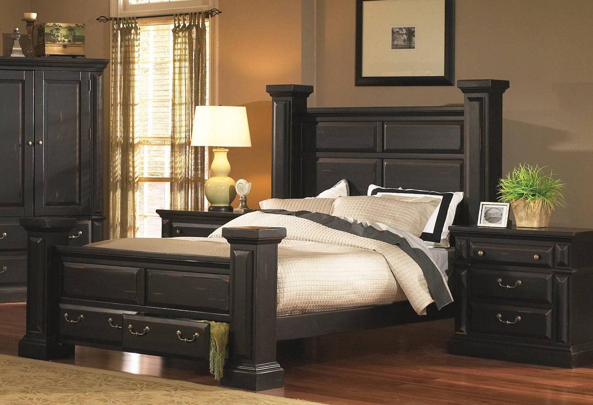 Progressive Furniture Torreon Antique Black 2pc Bedroom