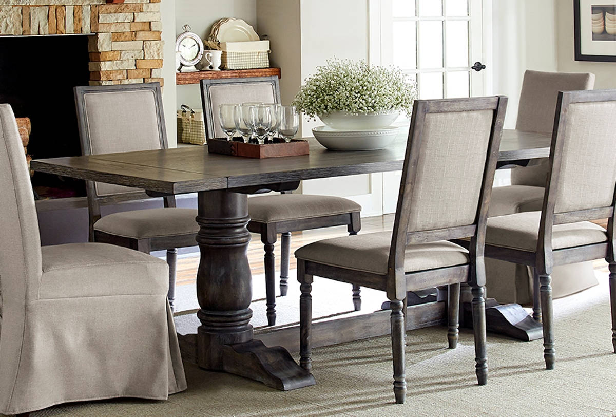 Progressive Furniture Muses Dove Grey Rectangle Dining Table The Cly Home