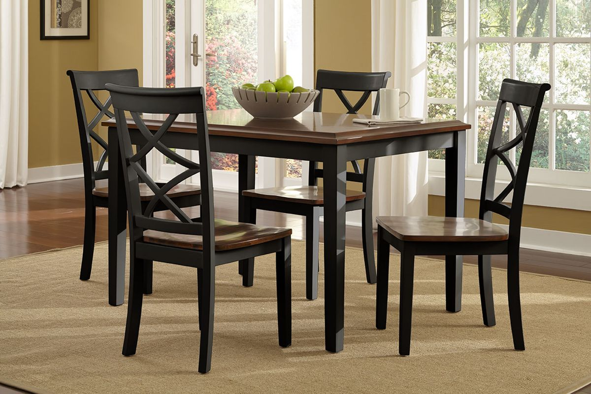 Powell Furniture Harrison Black 5pc Dining Room Set