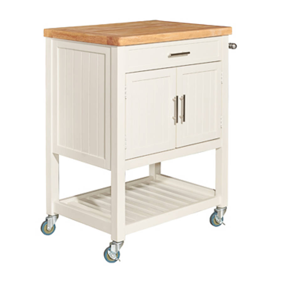 Powell Furniture Sydney White Kitchen Cart The Classy Home