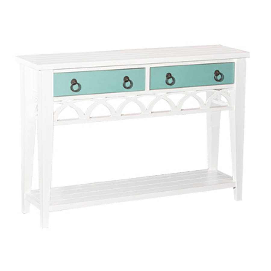 Powell Furniture Winslett White Console Table The Classy Home