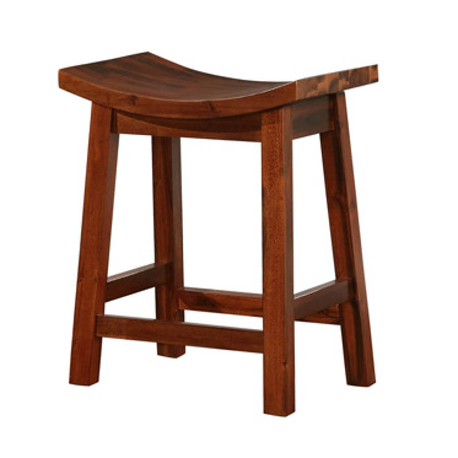 Powell Furniture Arnold Natural Saddle Counter Stool The Classy Home