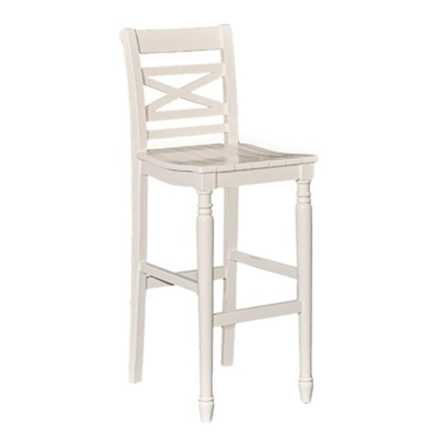 Powell Furniture Sullivan White Bar Stool
