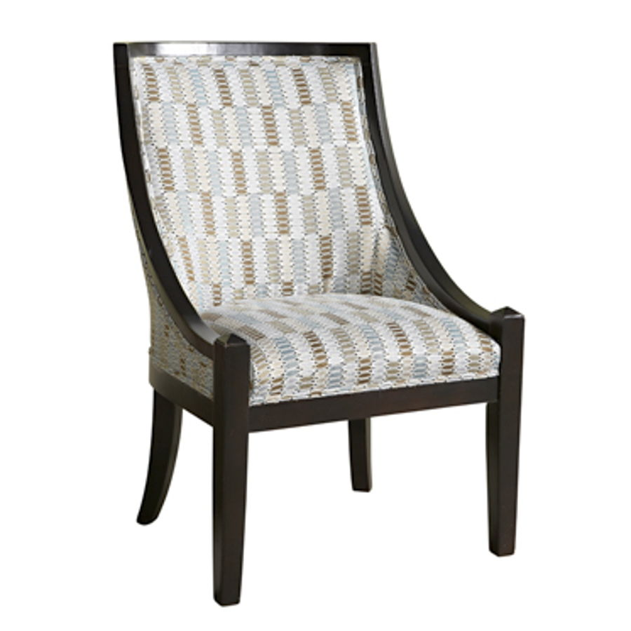 Phenomenal Brown Blue Patterned High Back Accent Chair Pwl 502 631 Ibusinesslaw Wood Chair Design Ideas Ibusinesslaworg