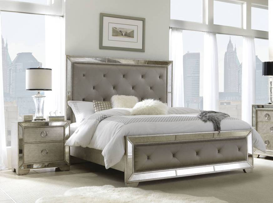 Pulaski Furniture Farrah Gold 2pc Bedroom Set With Queen Bed The