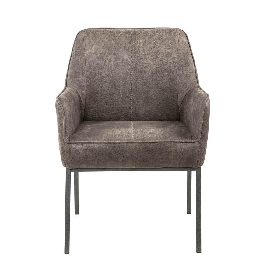 Superb Home Meridian Grey Leather Accent Chair Machost Co Dining Chair Design Ideas Machostcouk