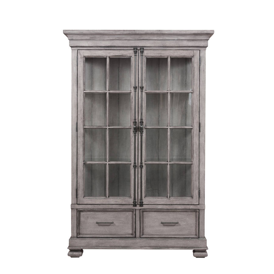 Ordinaire Home Meridian Prospect Hill Weathered Grey China Cabinet | The Classy Home