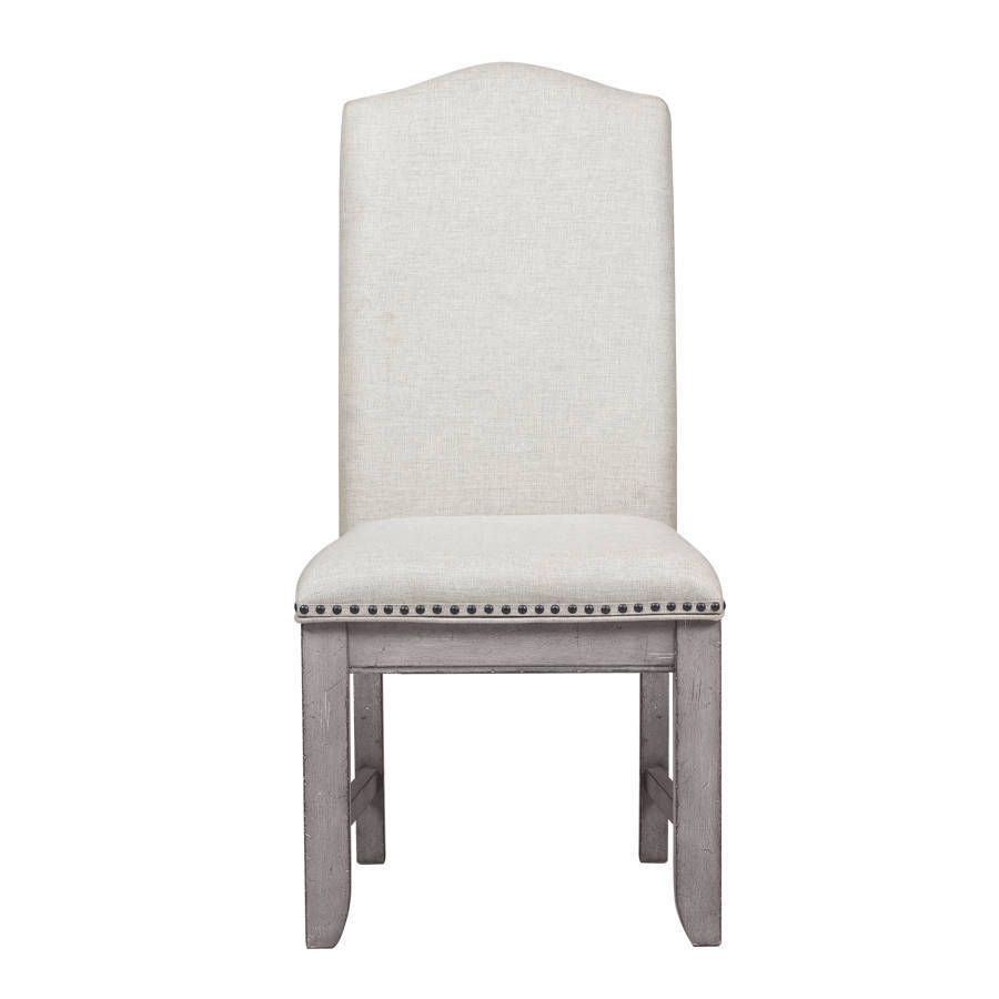 Home Meridian Prospect Hill Weathered Grey Nailhead Side Chair | The Classy  Home