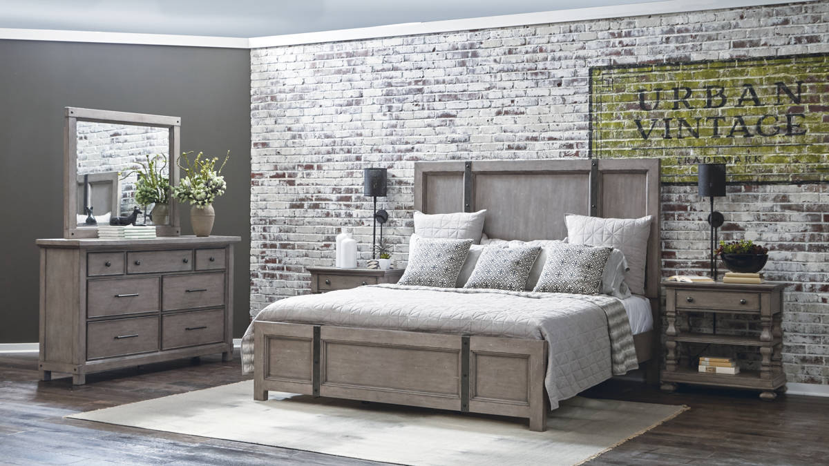 Prospect hill weathered grey hardwoods master bedroom set bedrooms the classy home best No dresser in master bedroom