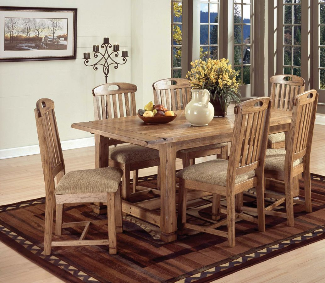 Sunny Designs Sedona Rustic Oak 7pc Dining Room Set The