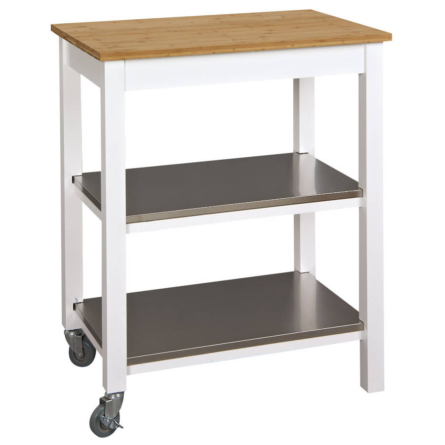 Space Master White Stainless Steel Ultimate Kitchen Island