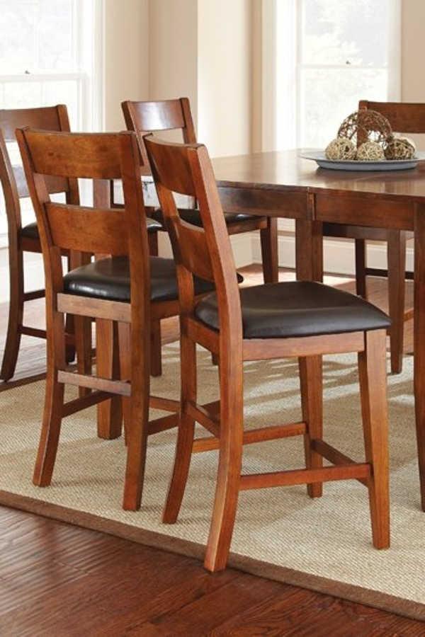 2 Steve Silver Mango Light Oak Counter Chairs