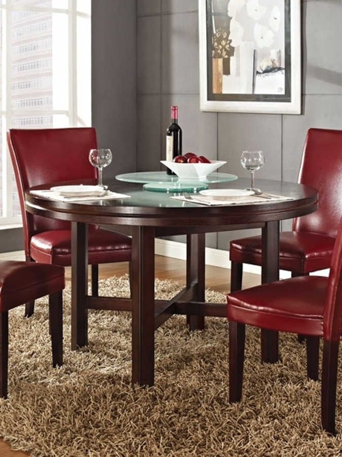 Steve Silver Hartford Dining Table With Lazy Susan The Classy Home