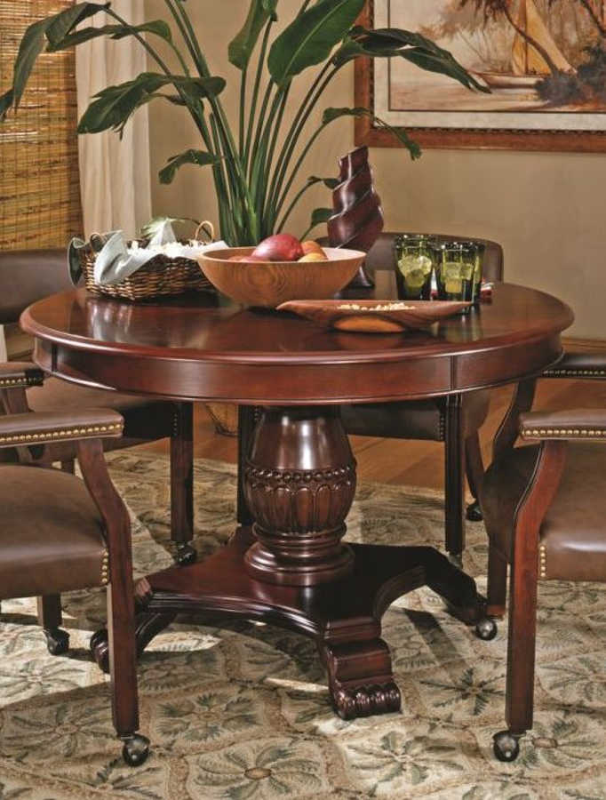Steve Silver Tournament Cherry Dining Table