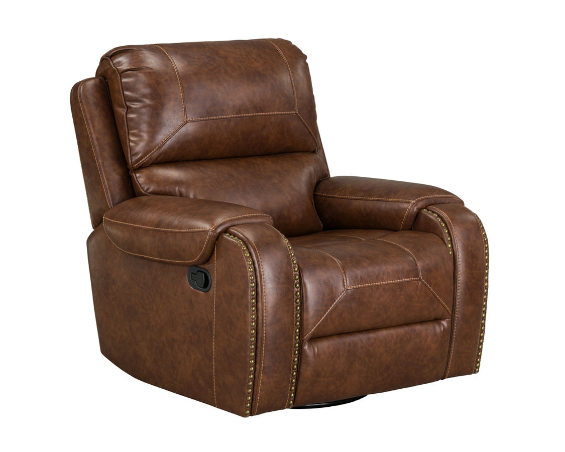Standard Furniture Winslow Brown Manual Motion Swivel Glider Recliner The Classy Home