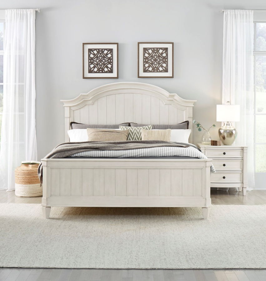 Standard Furniture Mallory White 2pc Bedroom Set with King Bed