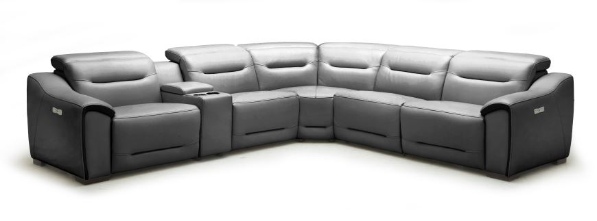 Southern Motion Grand Finale Grey Power Headrest Reclining Sectional