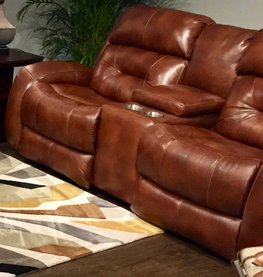 Phenomenal Southern Motion Showcase Brown Rustico Double Reclining Loveseat With Console Gamerscity Chair Design For Home Gamerscityorg