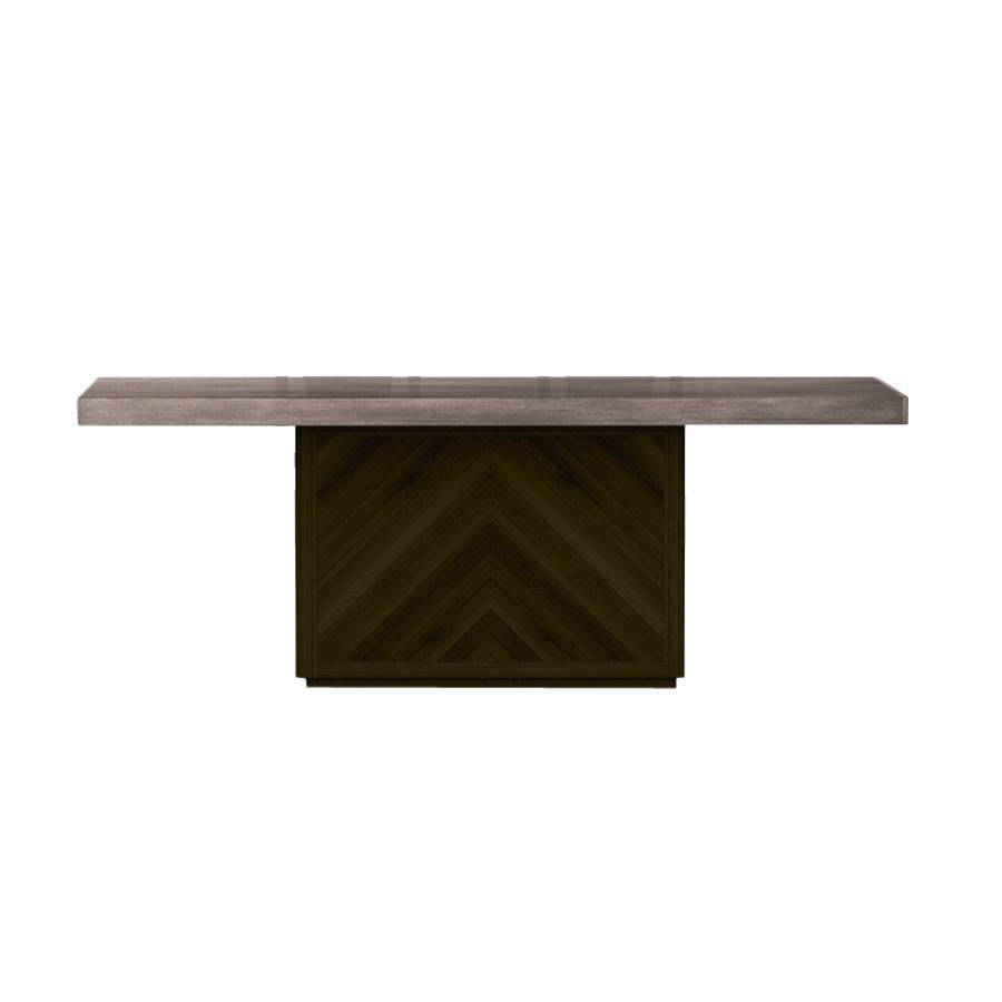 Star International Apex Cinder Brushed Slate Grey Dining Table The Cly Home