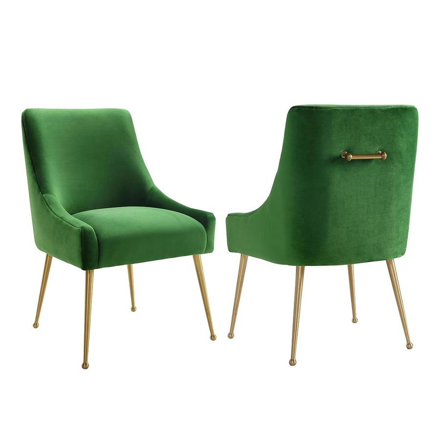 TOV Furniture Beatrix Green Velvet Side Chair The Classy