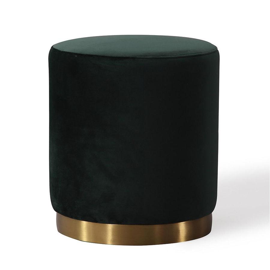 Tov Furniture Opal Green Velvet Ottoman The Classy Home