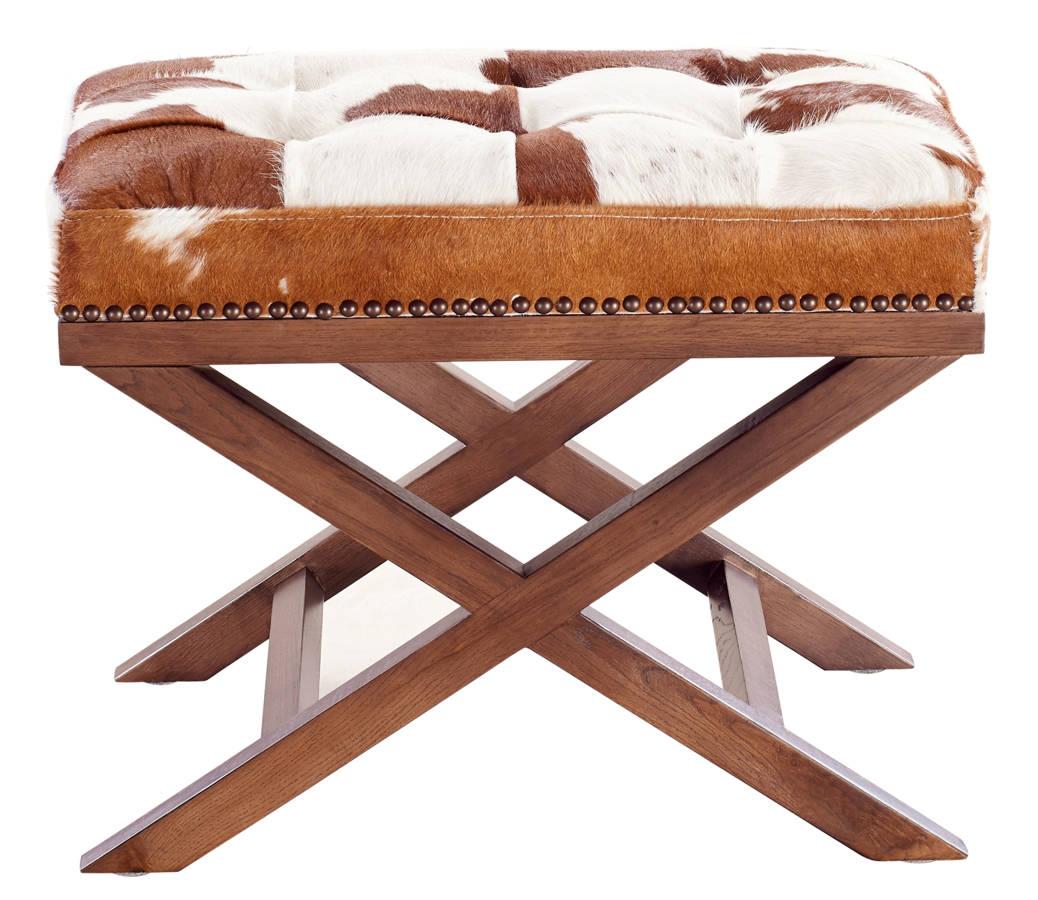 TOV Furniture Moo X Cowhide Ottoman