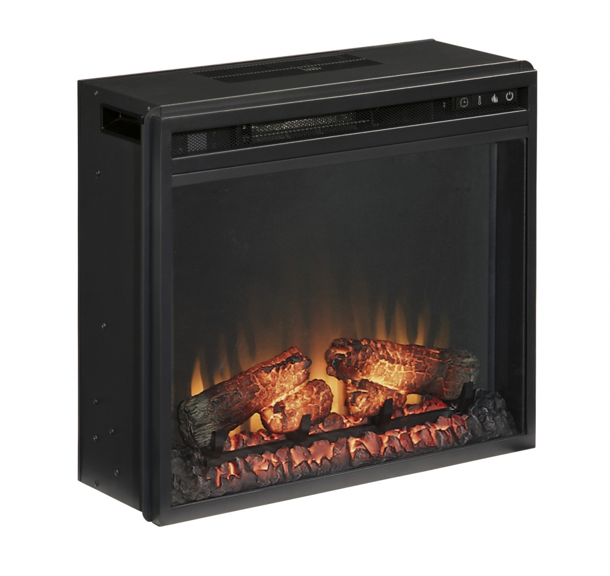 Ashley Furniture Black Fireplace Insert | The Classy Home