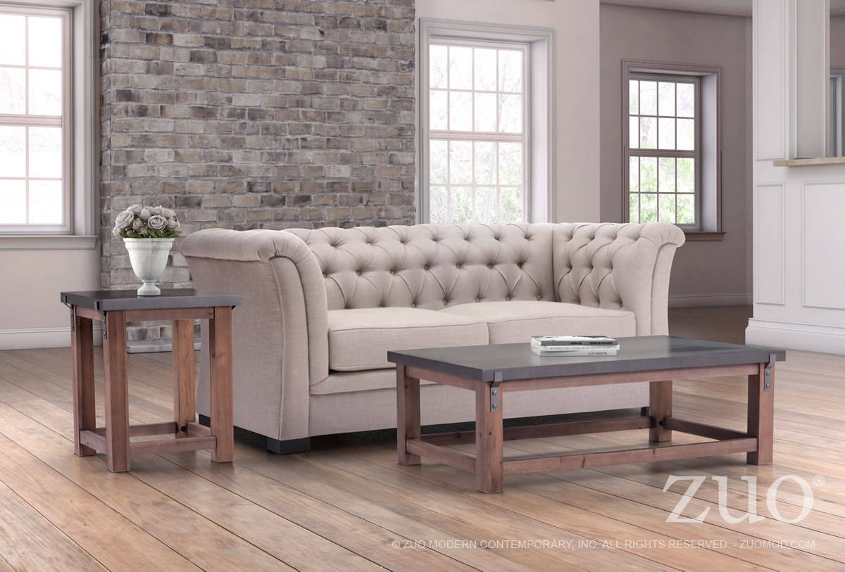 Zuo Furniture Greenpoint Era Gray Distressed 3pc Coffee Table Set Click To Enlarge Loading