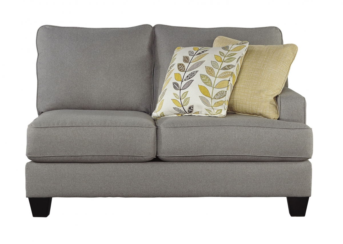 Chamberly Contemporary Alloy Wood Fabric Raf Loveseat