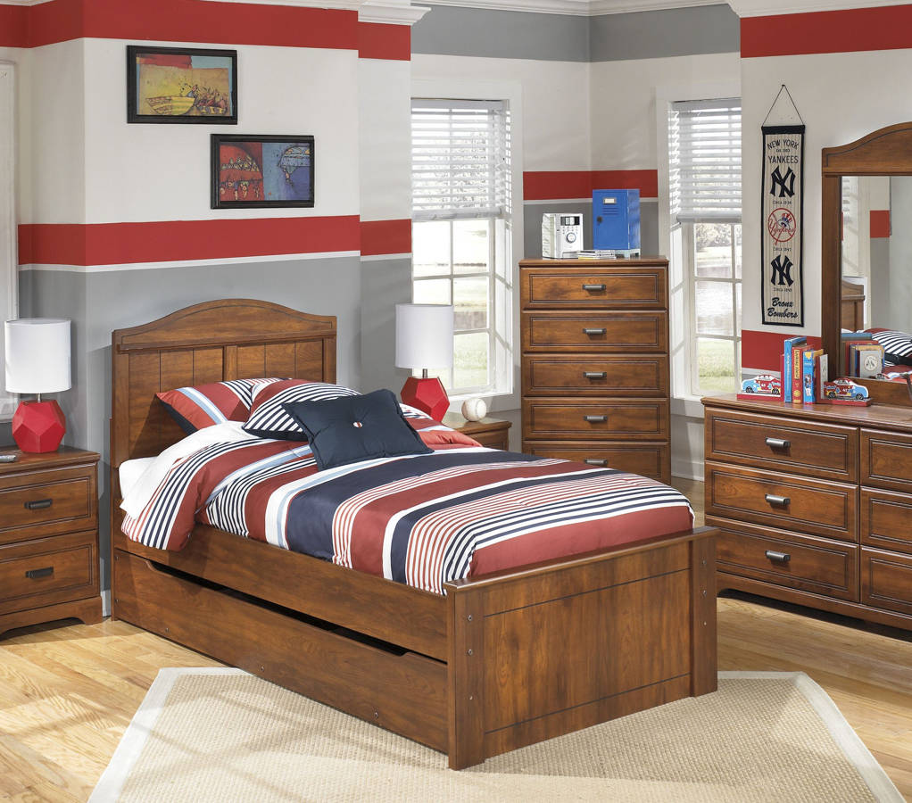Ashley Furniture Barchan Twin Panel Trundle Storage Bed The Classy Home