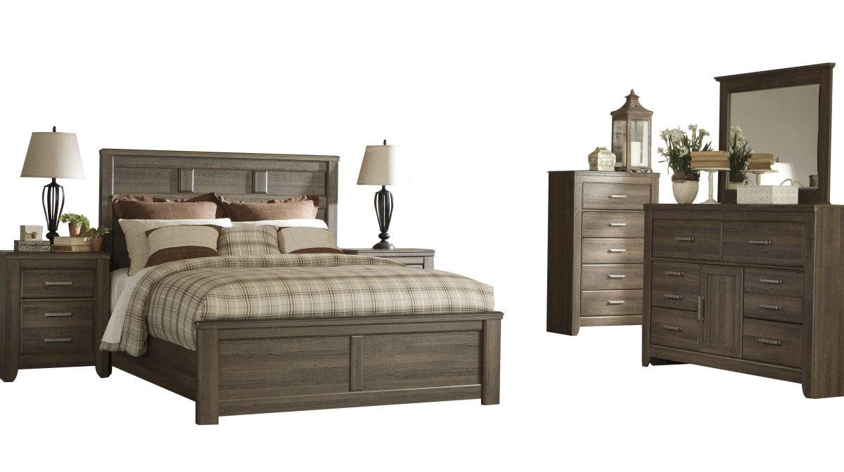 Ashley Furniture Juararo 2pc Bedroom Set With Cal King Panel Bed The Classy Home