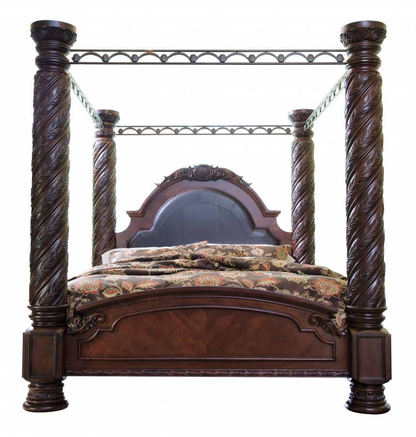 Furniture Classy Millennium Furniture From Ashleys: Ashley Furniture North Shore Cal King Poster Bed